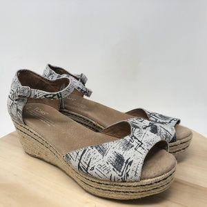 Toms Women's Size 8 Espadrille Peep Toes CE16